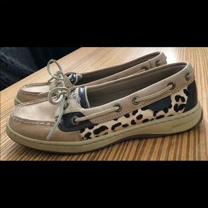 Sperry Top-siders Angelfish Leopard Boat Shoes